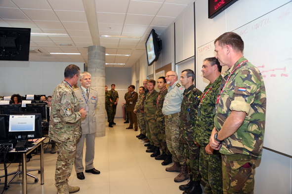 GENERAL PAVEL BRIEFING AT SITCEN small