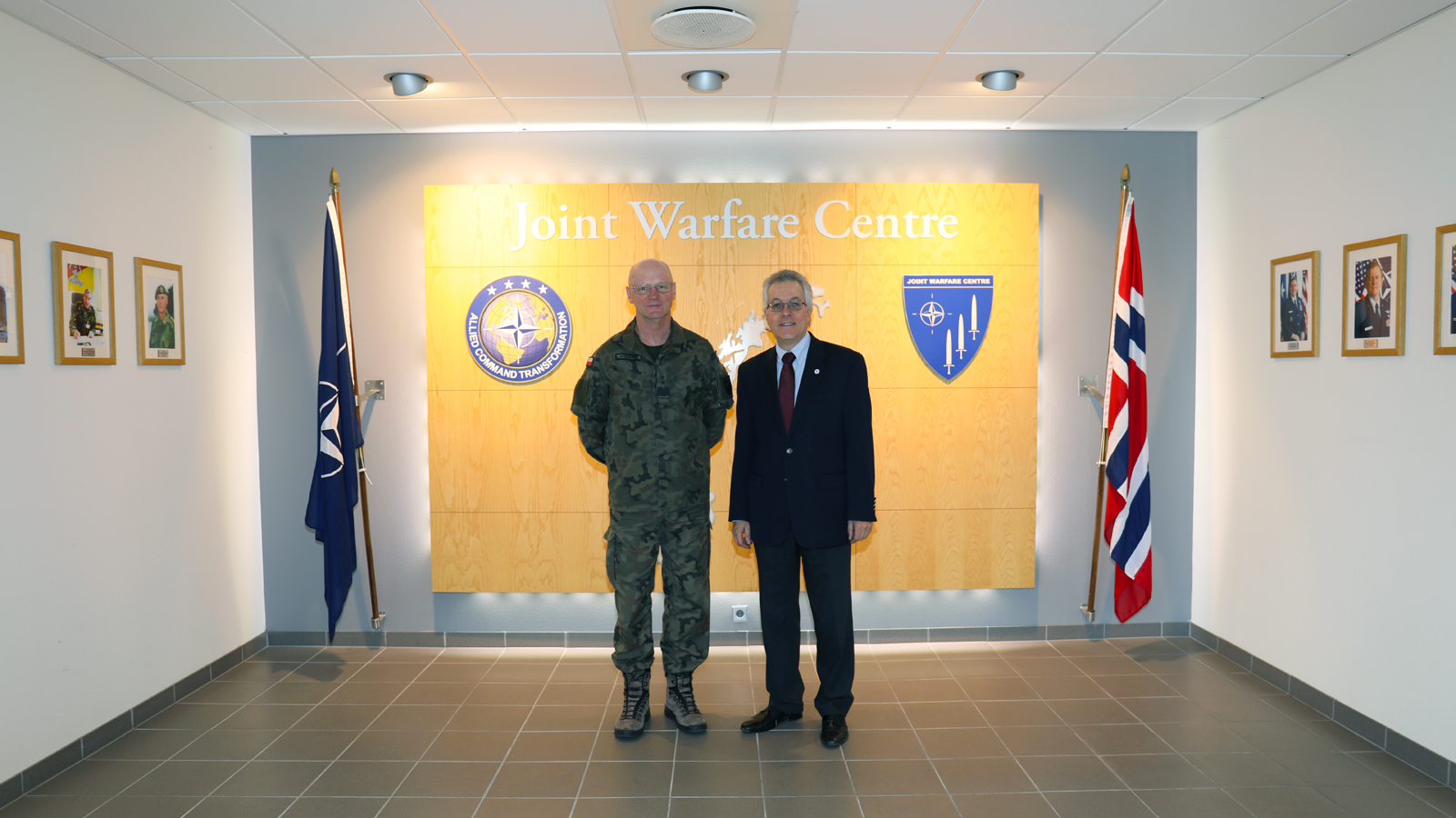 Head of International Committee of the Red Cross Delegation to the EU and NATO visits Joint Warfare Centre