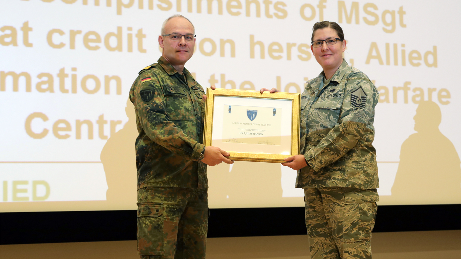NATO Joint Warfare Centre announces Military Member of the Year 2019